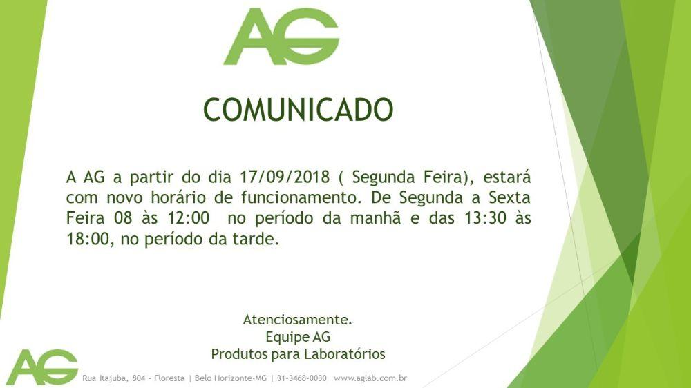 NOVO HORÁRIO DE FUNCIONAMENTO
