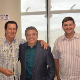 Visita do vereador Jorginho e do Nelson, de Senador Firmino