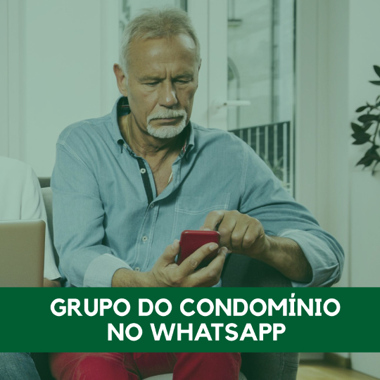 Grupo do condomínio no WhatsApp