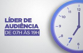 RecordTV Minas fica em 1º lugar na média da faixa horária de 07h às 19h