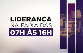 A RecordTV Minas foi líder de audiência na média da faixa horária