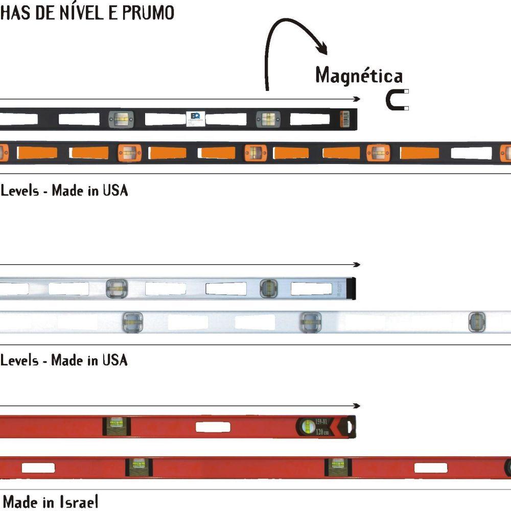 Régua Técnica c/ Prumo e Nível