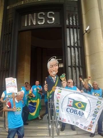 Ato no centro de São Paulo contra as reformas 1