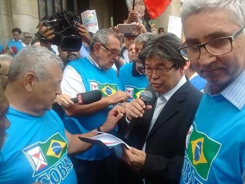 Ato no centro de São Paulo contra as reformas 3