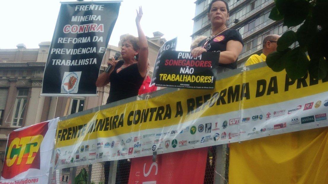 Ilva Franca, coordenadora da Frente Mineira Popular, manda recado aos deputados