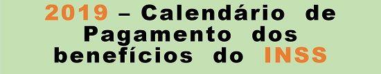 INSS - Calendário 2019