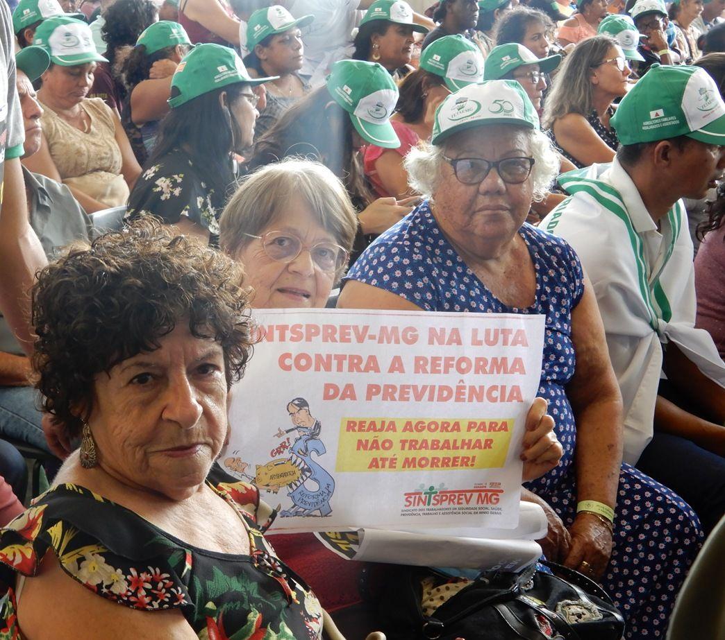 Diretoras do Sintsprev-MG marcam firme posição contra a reforma