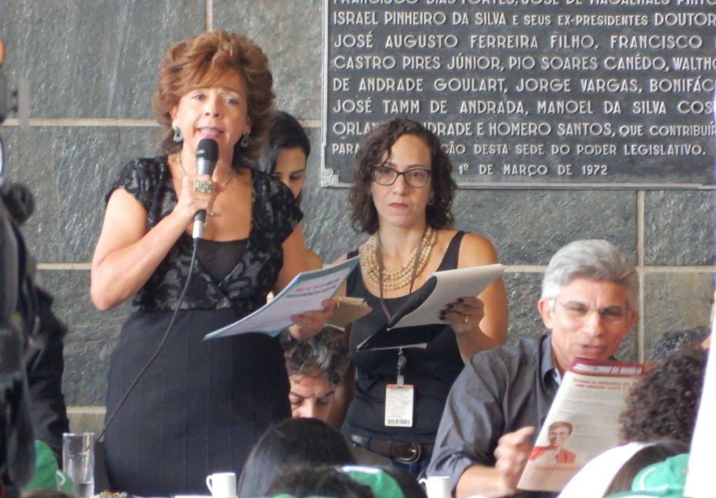 Ilva Franca falou representando a Anfip Nacional e a Frente Mineira
