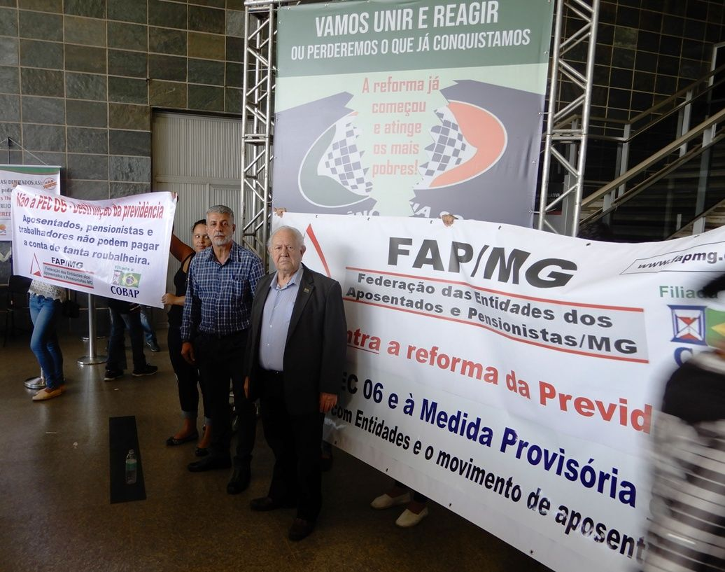 Robson Bittencourt e Gilson Matos representando a FAP-MG e a COBAP