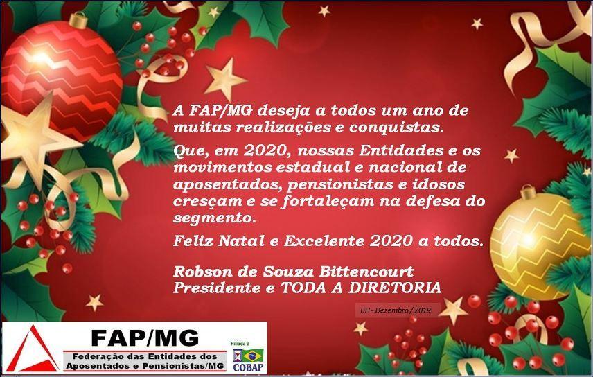 Feliz Natal e Feliz 2020