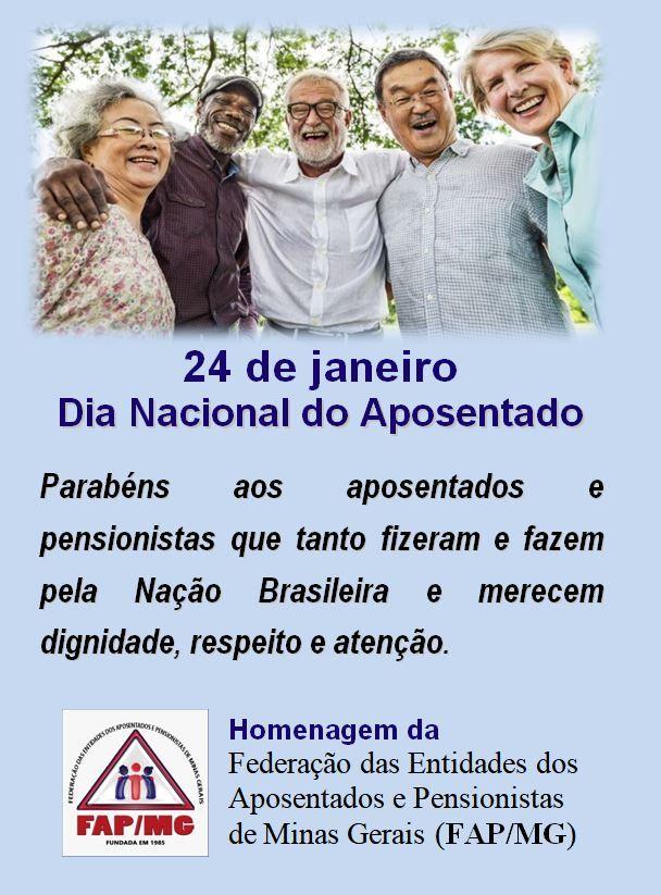 Salve o Dia Nacional do Aposentado - 24-01-2020