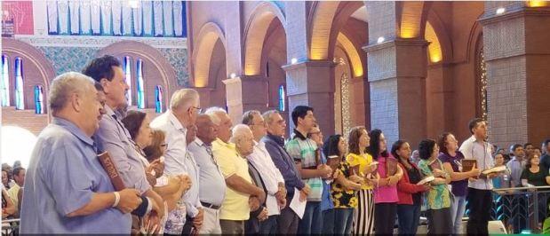 Celebração na basílica de Aparecida