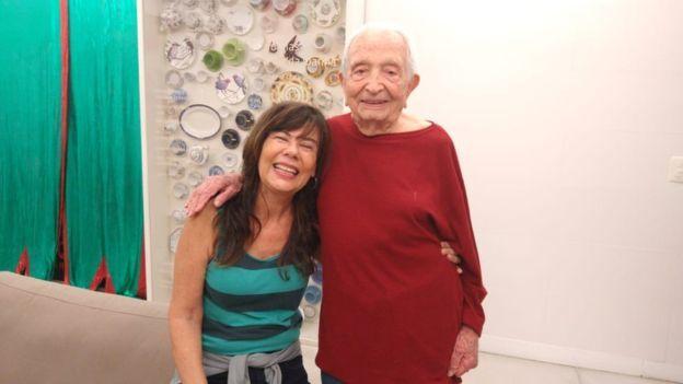 Goldenberg e seu amigo, Guedes, de 97 anos