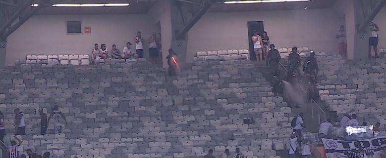 Torcedores do Atlético-MG e PM entram em confronto depois de jogo no Mineirão, em BH