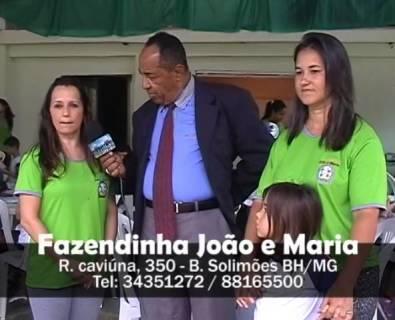 O Povo e a TV exibido na Band-MG Fazendinha João e Maria
