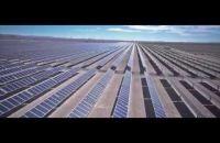 Visão aérea de plantas fotovoltaicas - Chile