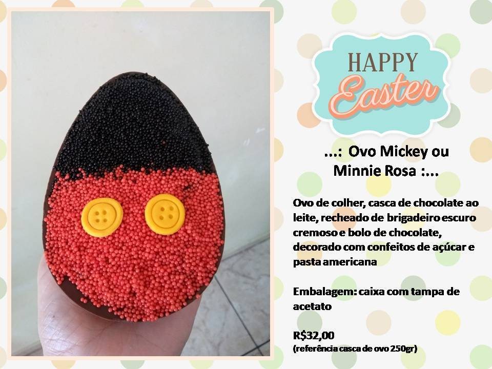 Ovo Mickey ou Minnie Rosa