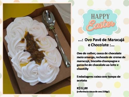 Ovo Pavê de Maracuja e Chocolate