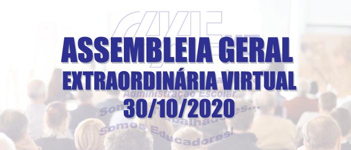 ASSEMBLEIA GERAL EXTRAORDINÁRIA VIRTUAL 30/10/2020