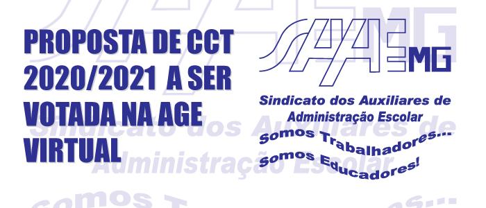 PROPOSTA DE CCT 2020/2021 A SER VOTADA NA AGE VIRTUAL