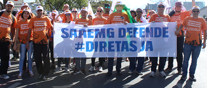 SAAEMG participa da Marcha da Classe Trabalhadora