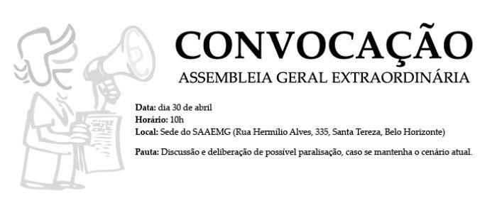 CONVOCA��O - ASSEMBLEIA GERAL EXTRAORDIN�RIA