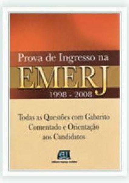 ESGOTADO- PROVA DE INGRESSO NA EMERJ