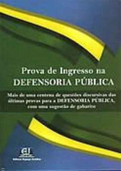 ESGOTADO - PROVA DE INGRESSO NA DEFENSORIA PÚBLICA