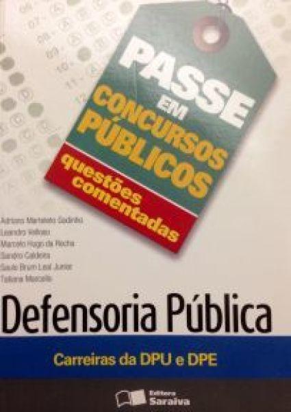 ESGOTADO- QUESTÕES COMENTADAS DEFENSORIA PÚBLICA