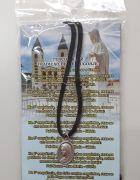 Cordão Medalha de Medjugorje (Prata) + Folheto com Oração