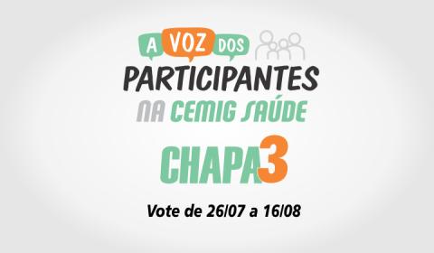 Eleição Cemig Saúde: Vote Chapa 3