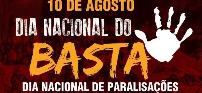 10 de agosto - Dia Nacional do Basta; em BH, ato às 11 horas na Praça Afonso Arinos