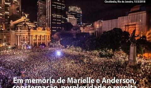 Em memoria de Marielle e Anderson: atos públicos pelo Brasil, perplexidade e revolta
