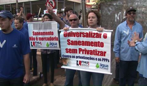 Urbanitários farão nesta semana toda pressão contra a privatização do saneamento