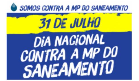 31 de julho: Dia de luta contra a privatização do saneamento