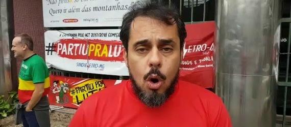 Coordenador geral do Sindieletro, Jefferson Silva, na Cemig da Itambé