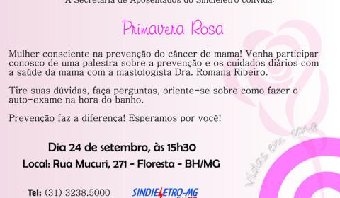 Sindieletro promoveu palestra sobre câncer de mama