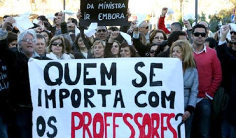 Professores parados