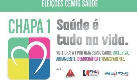 Eleição começou na 2ª: Chapa 1 em defesa da Cemig Saúde