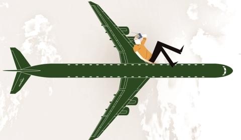 Movimentar-se durante um voo pode evitar problemas de saúde