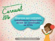 TRABALHO TEMPOR�RIO NO CARNAVAL