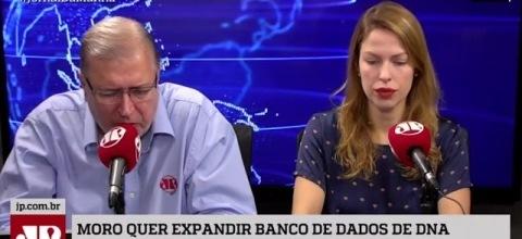 Na Mídia Rádio Jovem Pan - Moro quer banco de dados com DNA de todos os condenados do País
