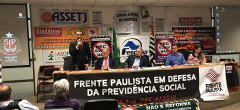 Audiência da Frente Paulista em Defesa da Previdência Social