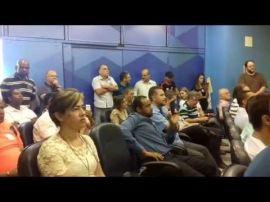 João Leite, candidato a prefeito de Belo Horizonte, manifesta apoio aos cobradores