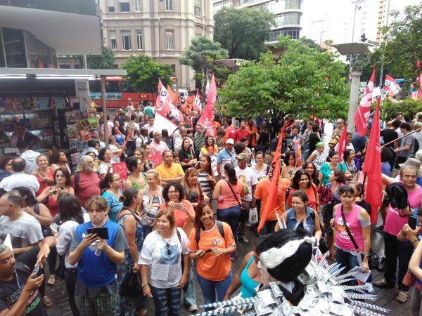 19.02.18 - ato público unificado contra a reforma da Previdência