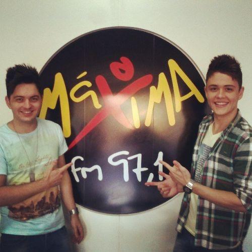 Vista a rádio Máxima FM