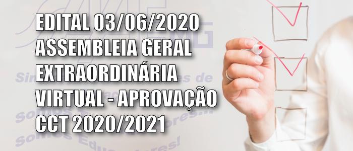 EDITAL DE CONVOCAÇÃO - ASSEMBLEIA GERAL EXTRAORDINÁRIA VIRTUAL