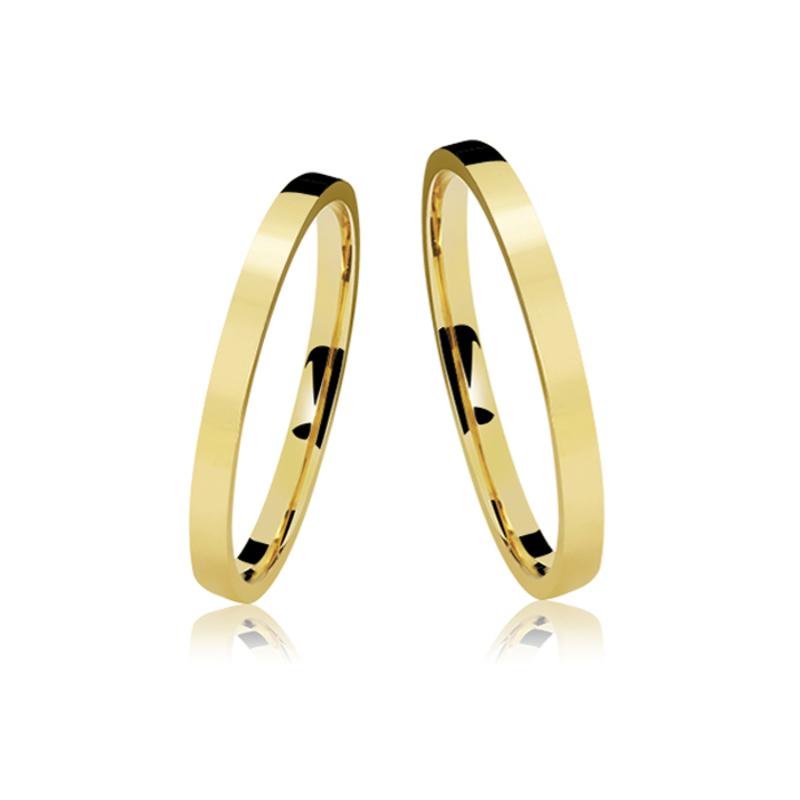 c4f47762028 Apoteose Gold - Alianças Casamento Ouro Polidas 2