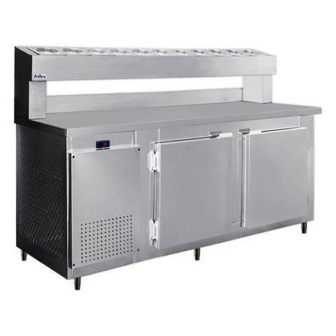 Balcão Refrigerado De Encosto com Porta Condimentos frilux 1,90m