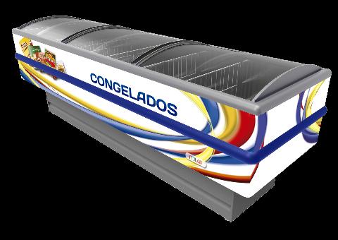 ILHA PARA CONGELADOS - 3,00M - ADESIVADA - VIDRO CURVO - POLAR